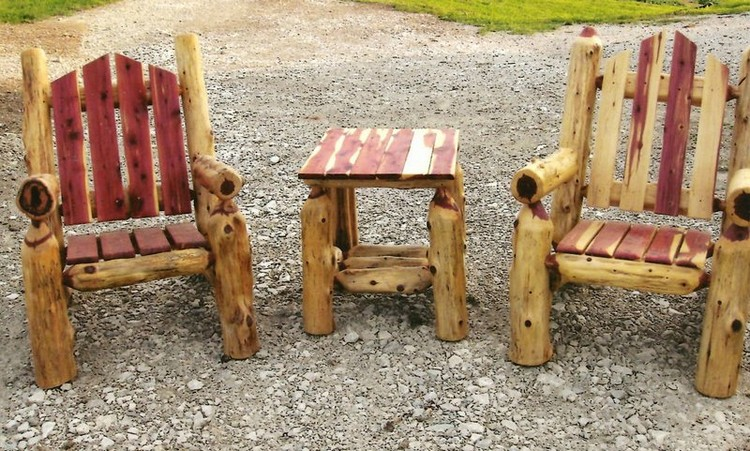 Nice ... Outdoor Log Furniture ...