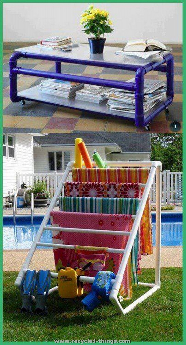Recycled pvc pipe projects recycled things for Pvc pipe projects ideas