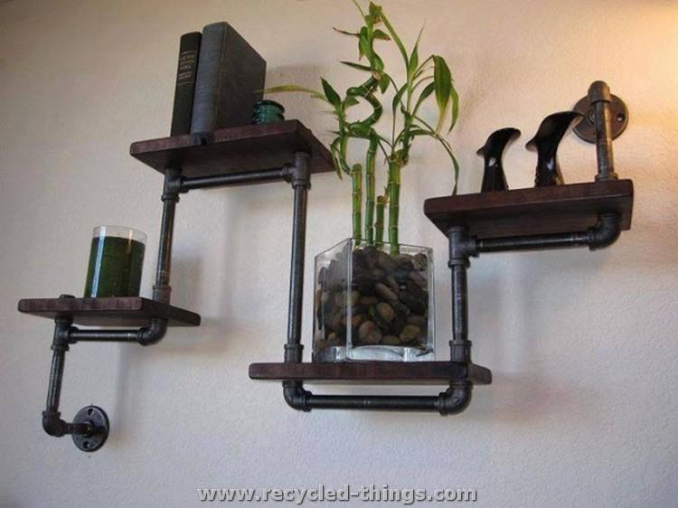 PVC Pipe Wall Shelf