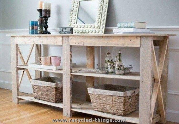 Pallet Hallway Side Table