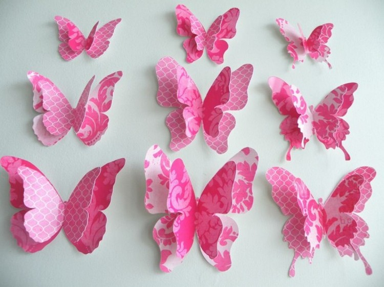 Wall decor ideas with paper recycled things for Butterflies for crafts and decoration