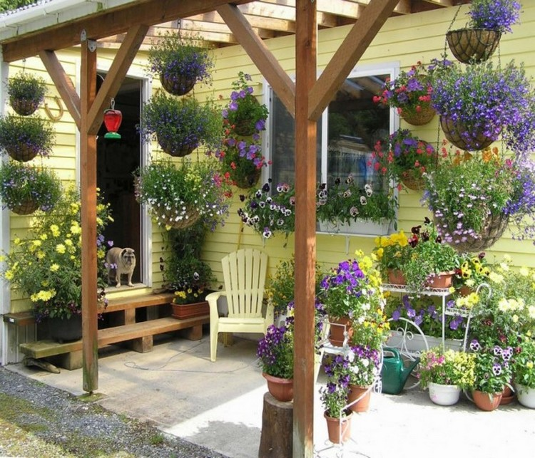 Amazing techniques to decorate your pergola recycled things for Patio decoration images