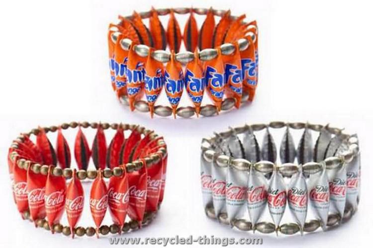 Recycled Bottle Caps Bracelets