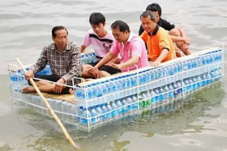 Recycled Bottles Boat