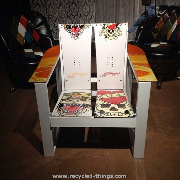 Recycled Snowboard Chair