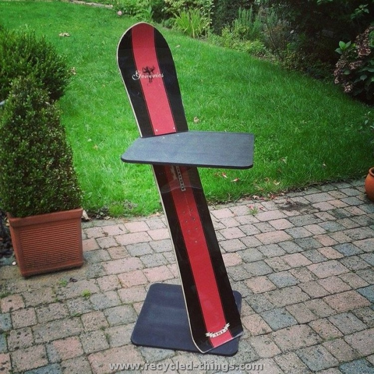 Recycled Snowboard Ideas