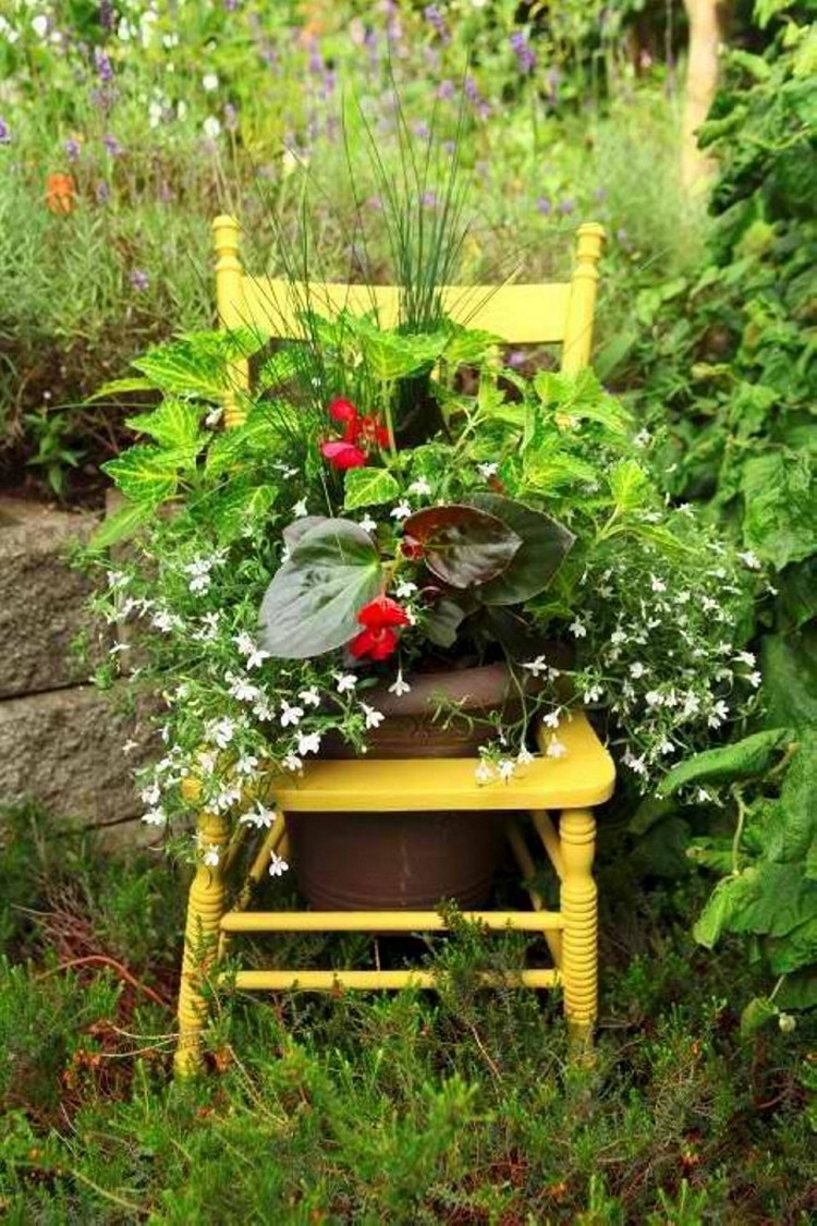 upcycled garden art projects  recycled things, Garden idea