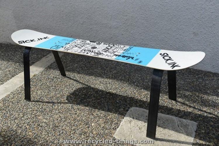 Snowboard Bench Ideas