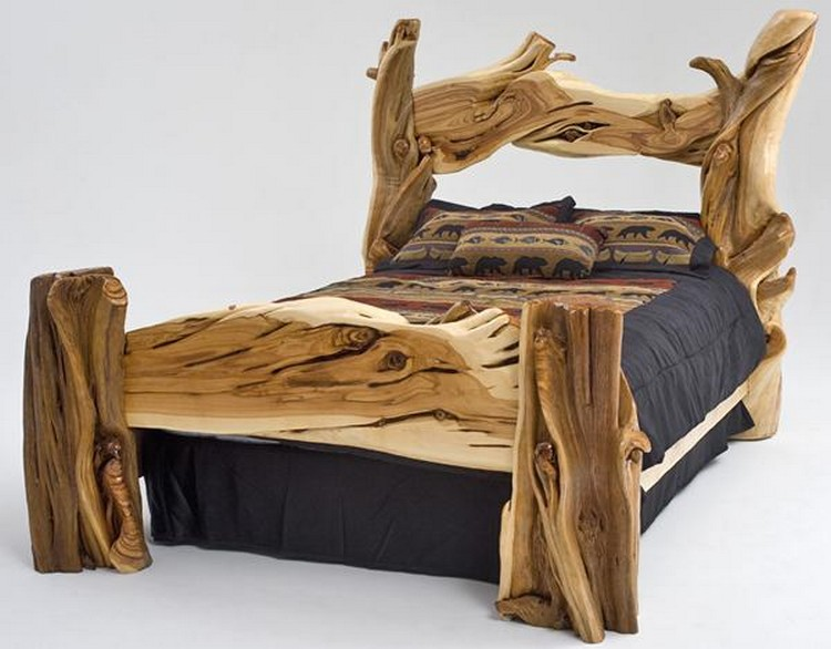 Upcycled Log Bed