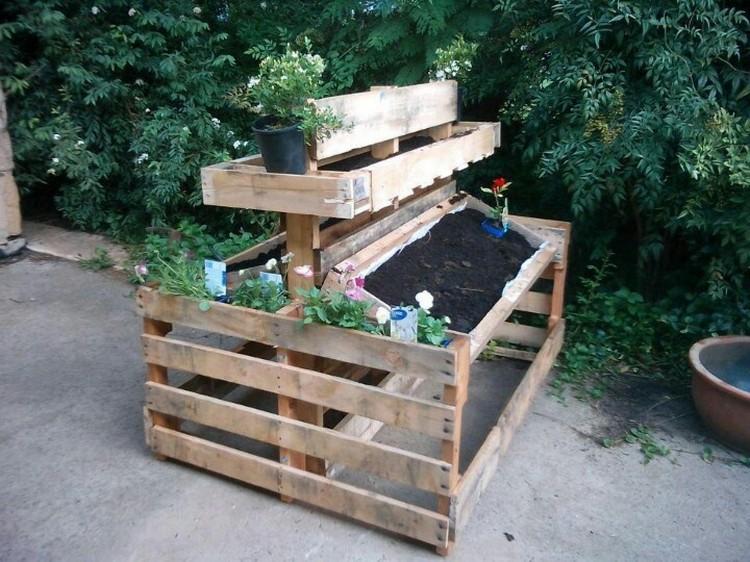 ... Wood Pallet Potting Bench