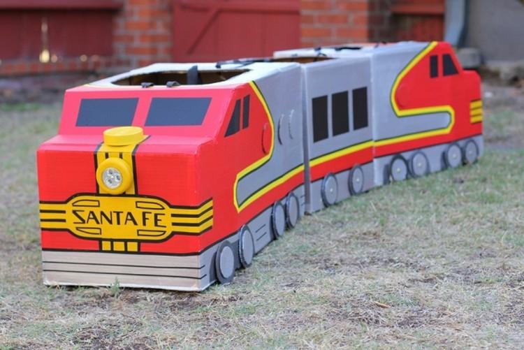 Cardboard Recycled Train