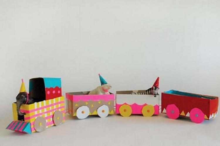Cardboard Train Ideas