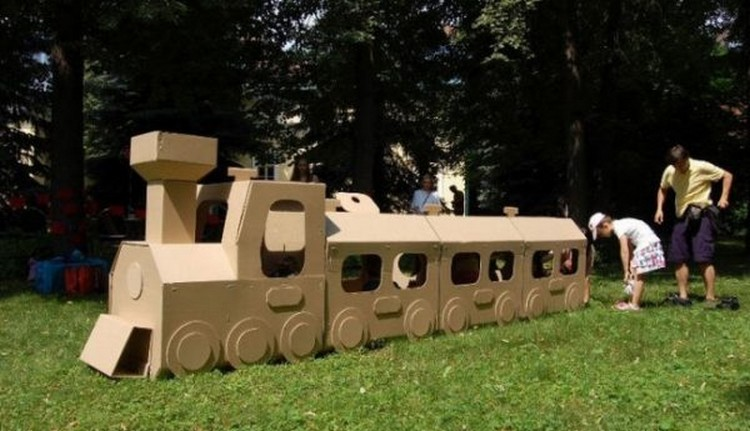 Cardboard Train for Kids