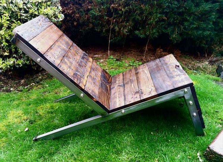 Industrial Pallet Adirondack Chair