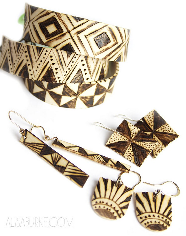 Jewelry Made from Popsicle Sticks
