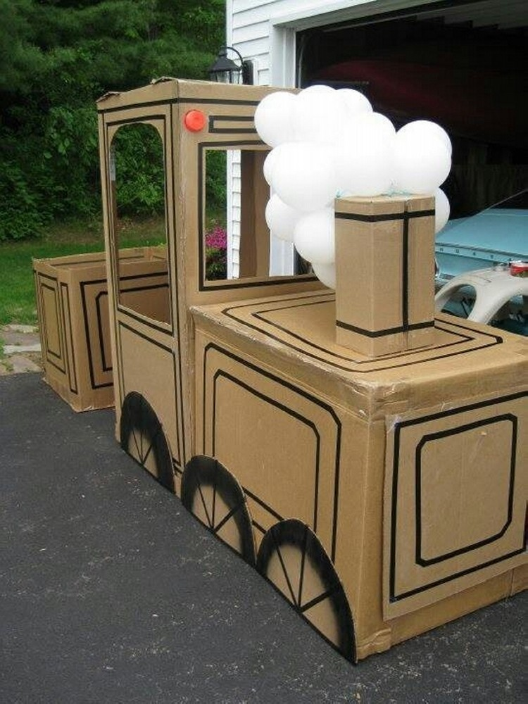 recycled cardboard train ideas recycled things