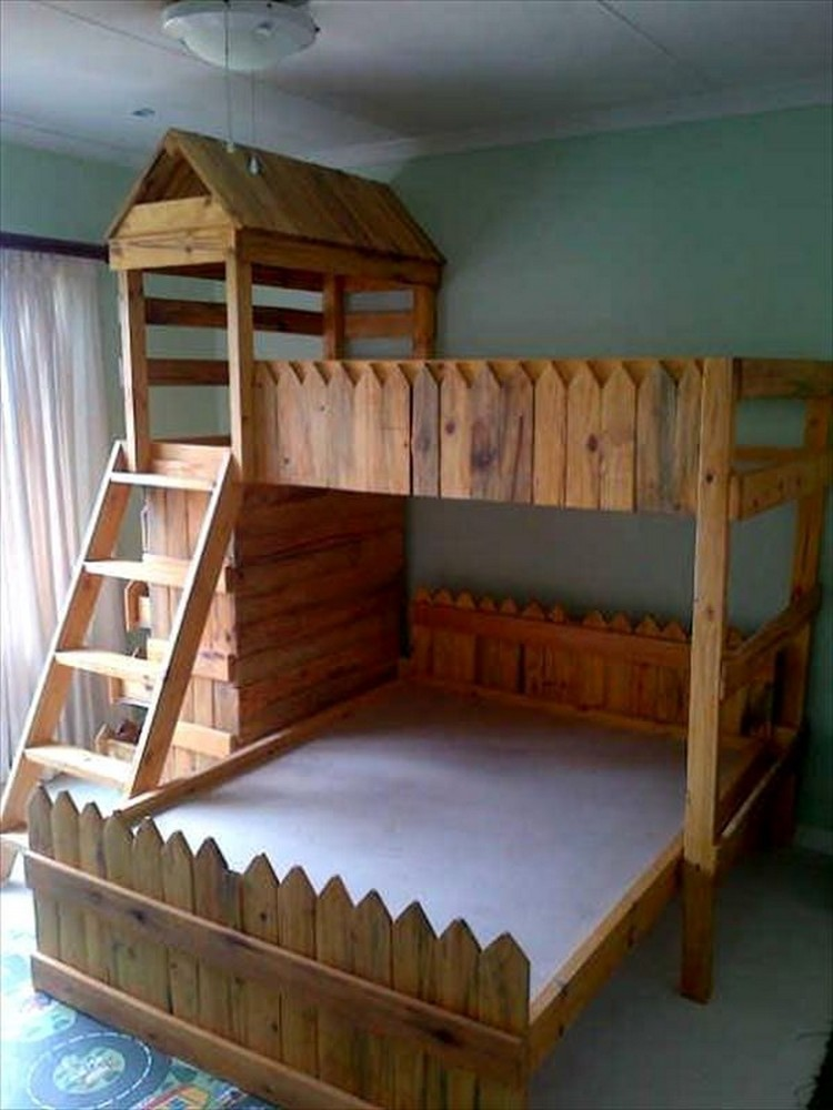 pallet bunk bed plans | recycled things