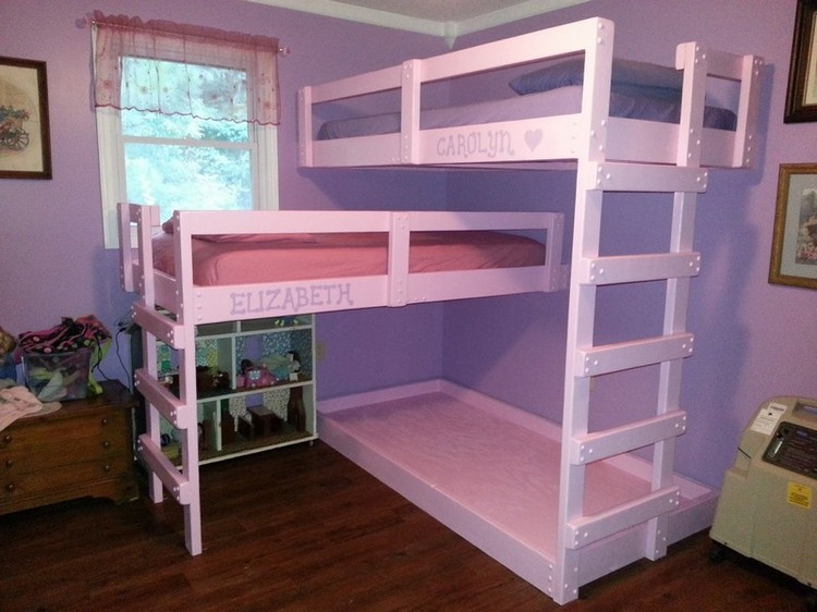 Small Bunk Beds pallet bunk bed plans | recycled things
