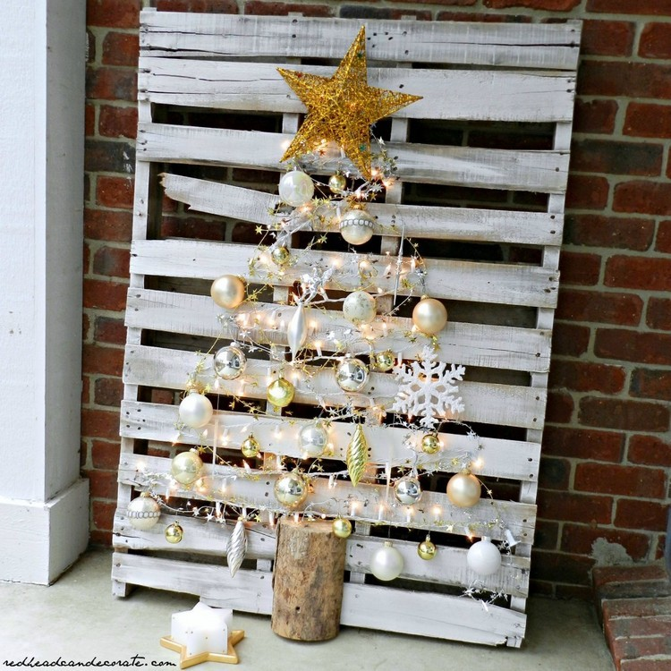 Pallet Christmas Tree Hom Decor