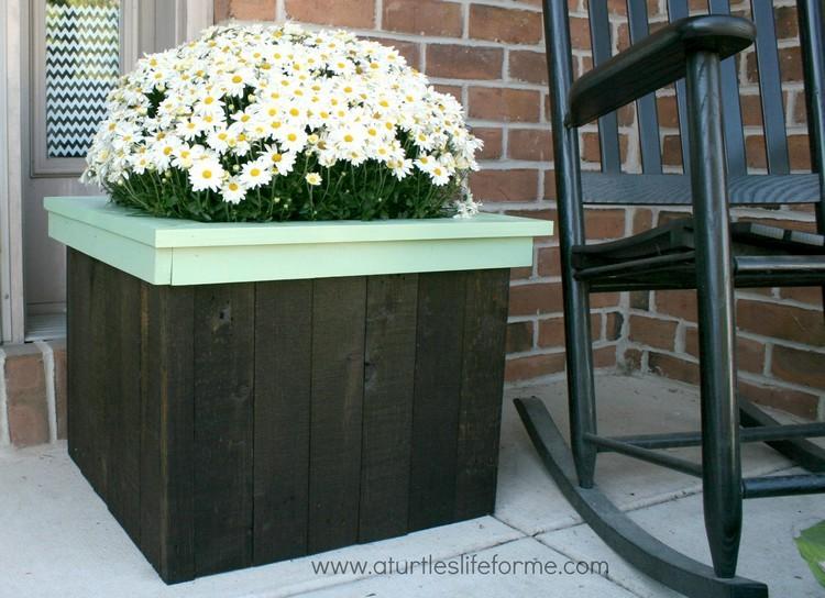 Pallet Flowers Planter Box