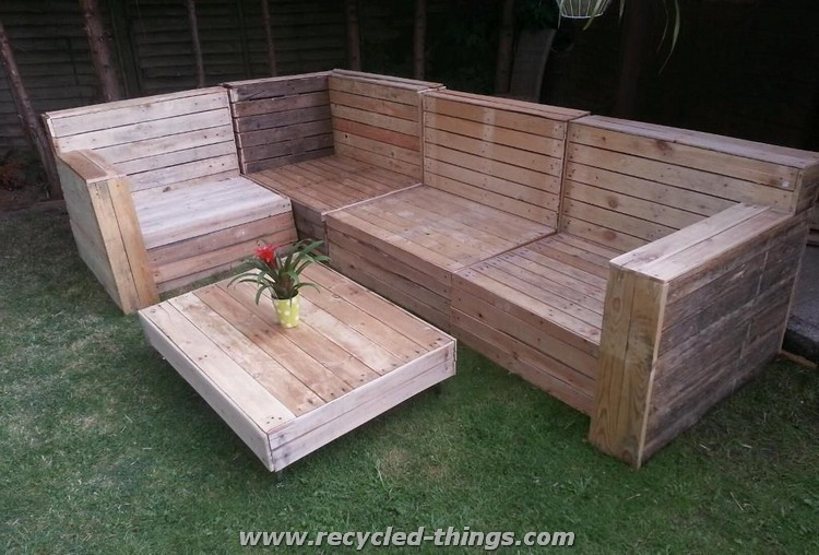 Pallet Patio Couch patio furniture from pallet wood | recycled things