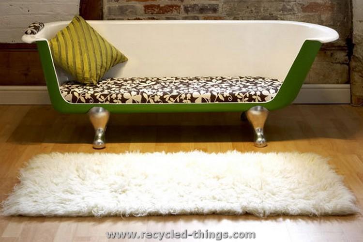 Recycled Bathtub Sofa