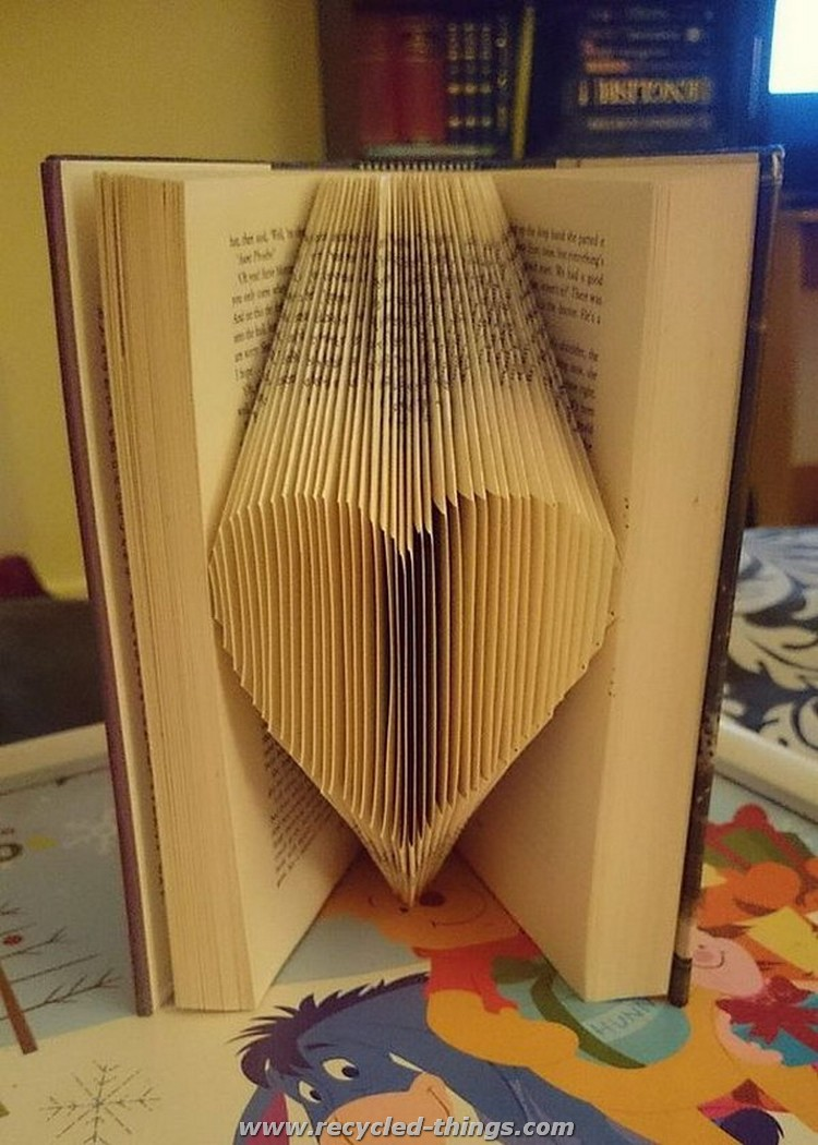 Recycled Book Heart Art