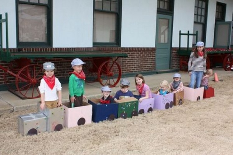 Recycled Cardboard Train
