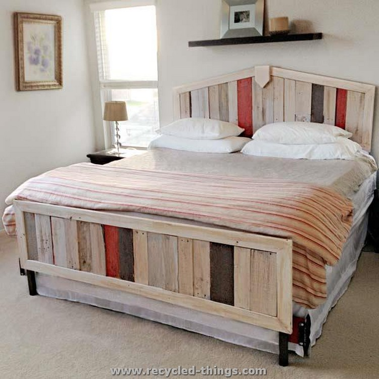 old pallet furniture. Recycled Pallet Bed Old Furniture O