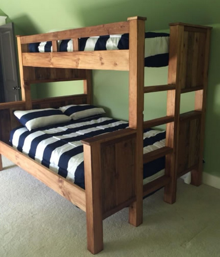 Pallet bunk bed plans recycled things for Wooden bunkbeds