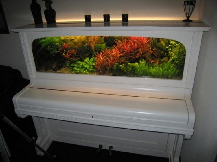 Recycled Piano Aquarium