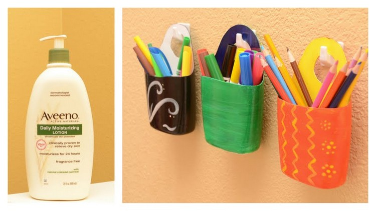 Recycled Shampoo Bottles Pencil Holder