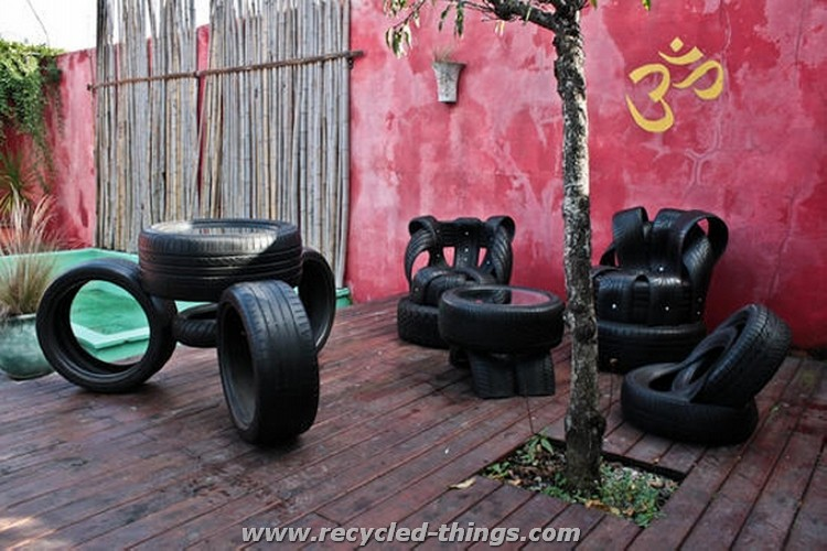 Recycled Tires Outdoor Furniture