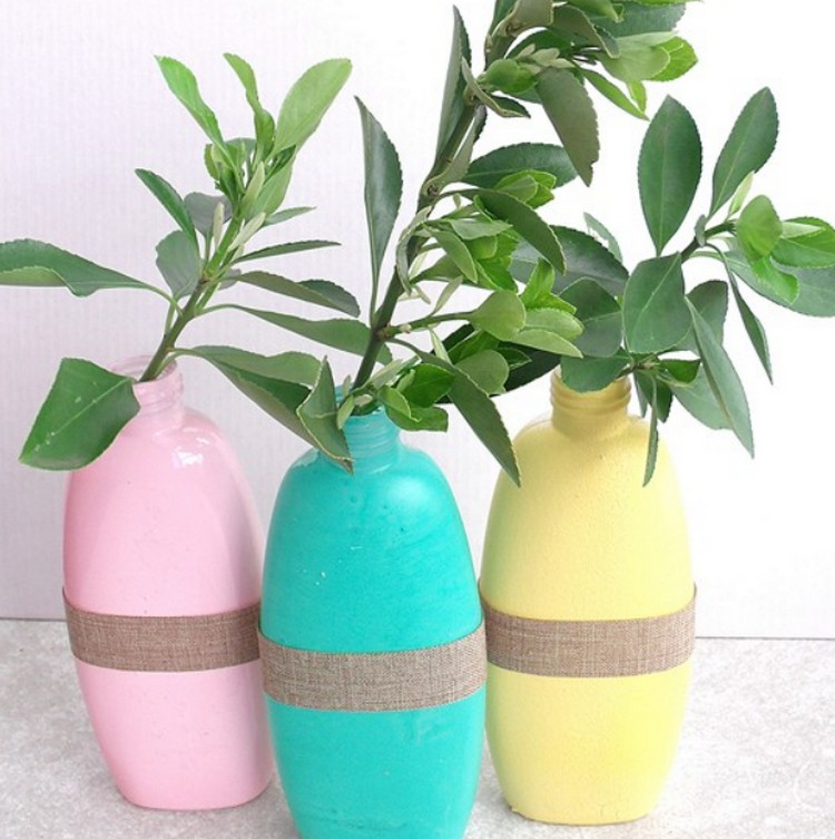 Shampoo Bottle Vases