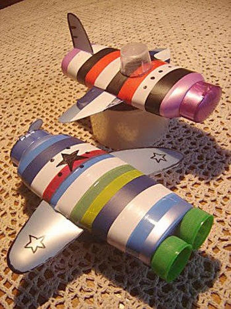 Shampoo Bottles Toy Airplane