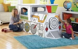Recycled Cardboard Train Ideas