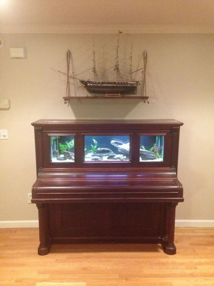 Upcycled Piano Aquarium