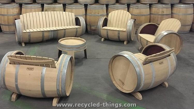 Upcycled Wine Barrel Furniture