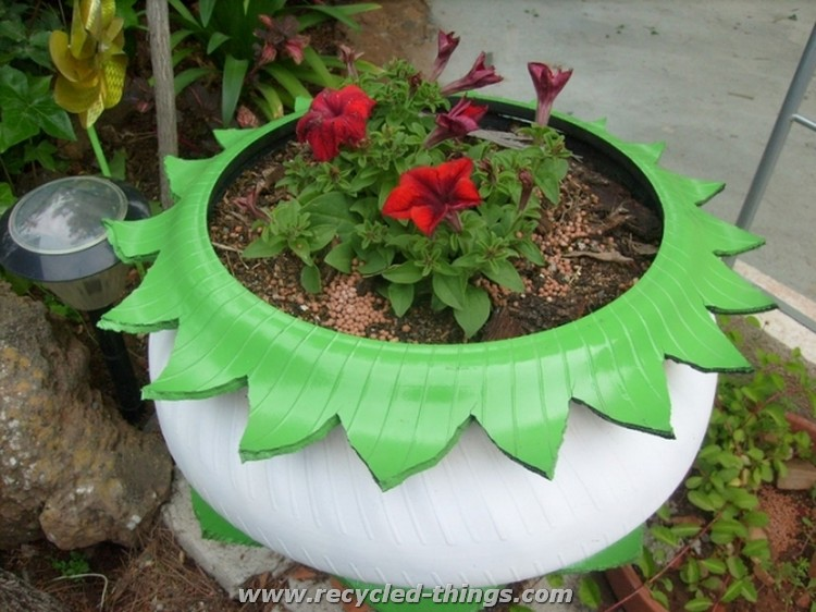 Used Tires Planter