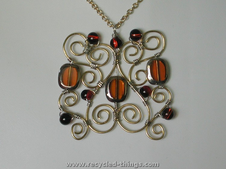 Wire Jewelry Necklace