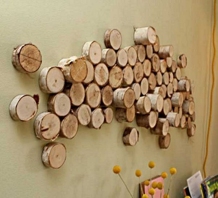Rustic decor ideas using logs recycled things