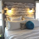 Recycled Pallet Headboard with Lights