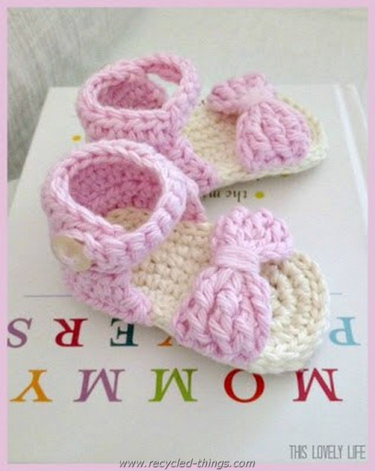 Cute Crochet Baby Sandal Patterns