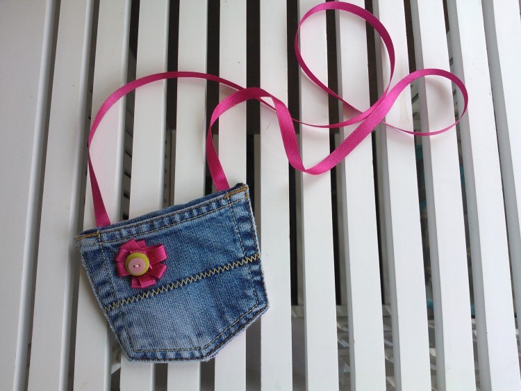 Denim Jeans Recycled Purse