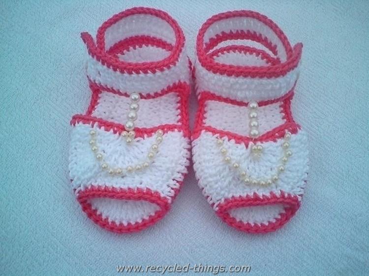 Elegant Crochet Baby Sandals