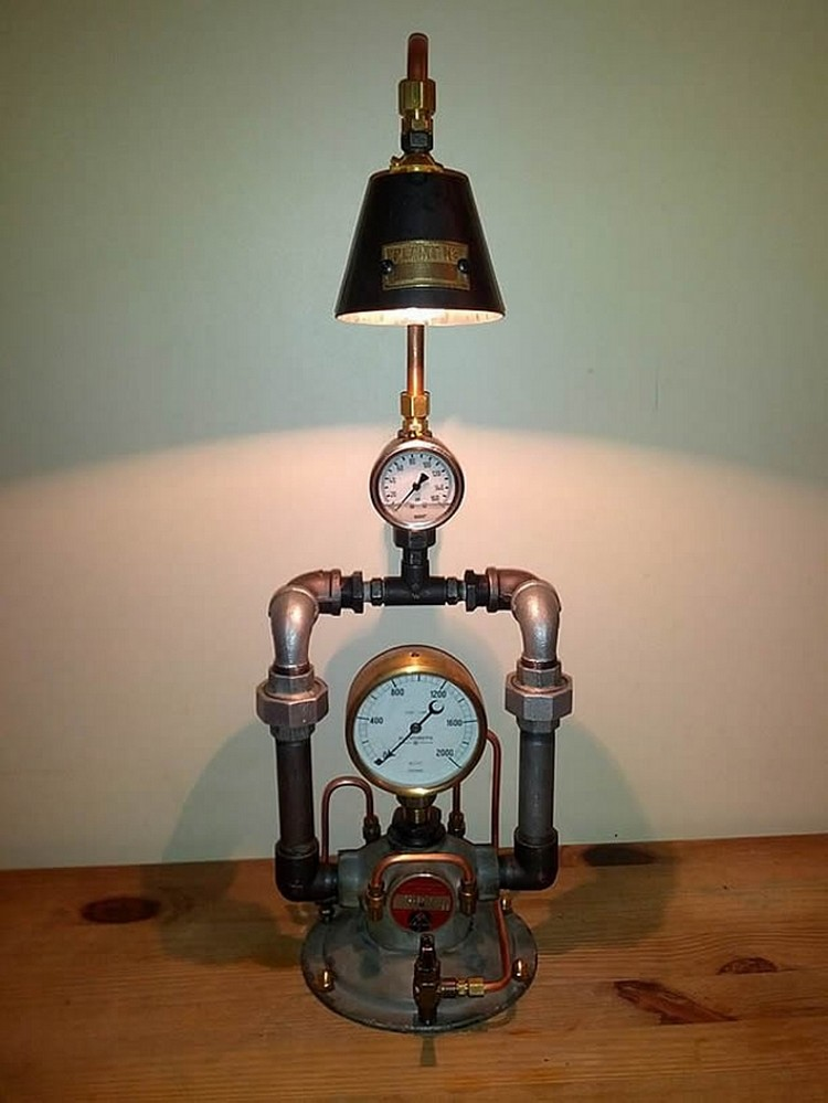 Industrial Clocks and Lamp Art