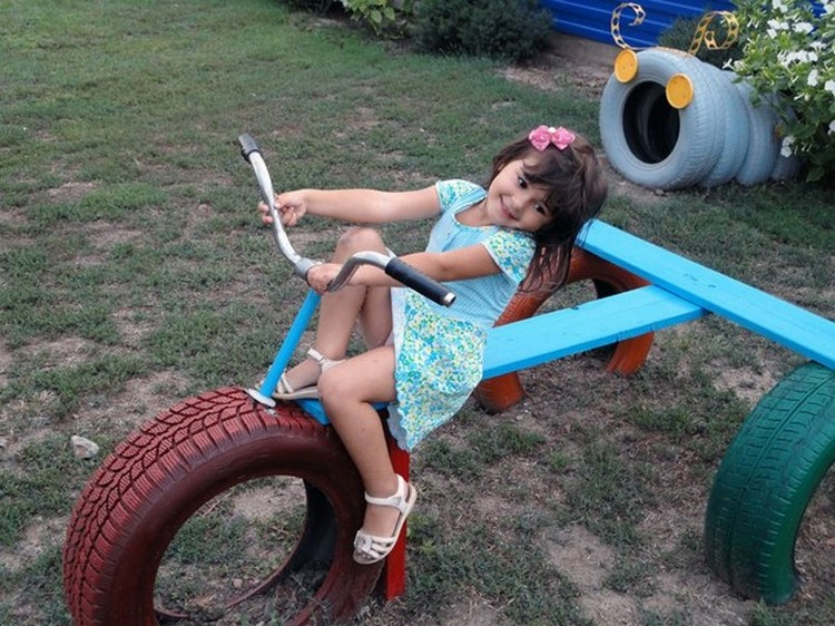 Kids Play Fun with Reused Tires