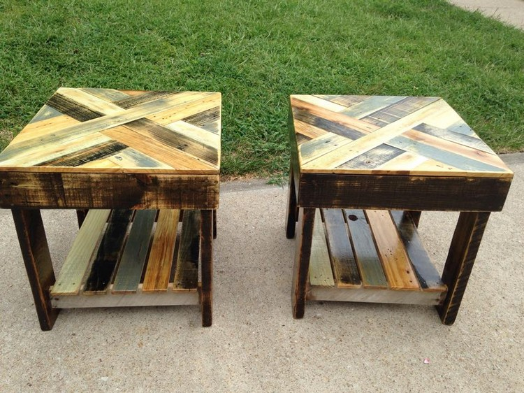 Pallet Patio Stools