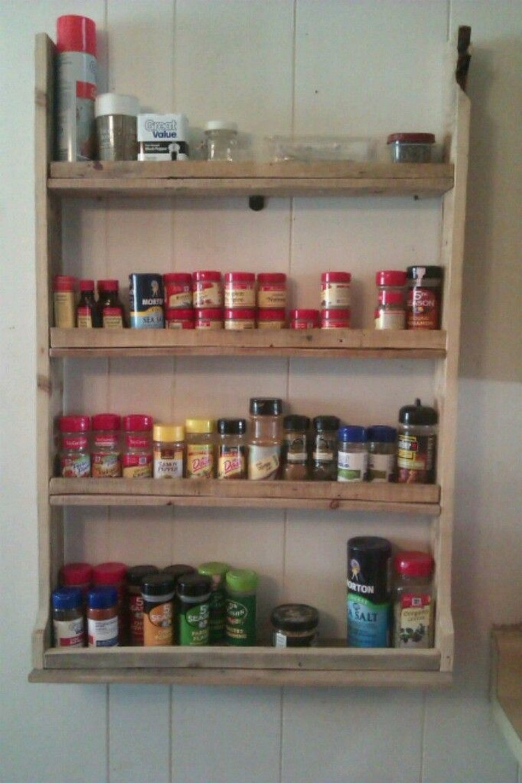 Spice Racks For Kitchen Pallet Spice Racks For Kitchen Recycled Things