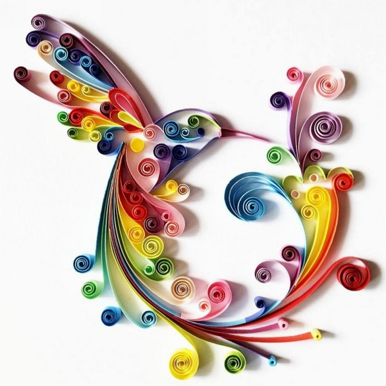 Quilling Wall Art Design : Paper quilling art projects recycled things